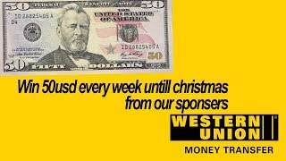 WIN 50usd from TV7  Sponsers, Sent to you via western union