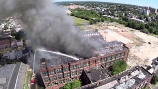 Remington Arms Factory Fire (Bridgeport, CT) 8/19/14 Long Version