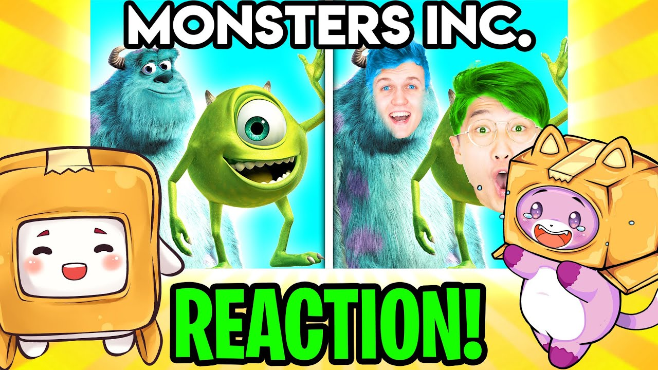 MONSTERS INC WITH ZERO BUDGET! (LANKYBOX FOXY & BOXY REACTION!)
