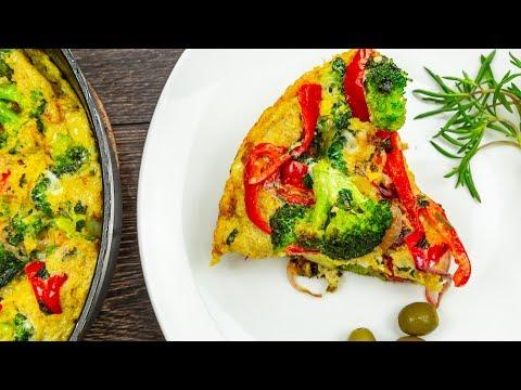 Broccoli & Bell Pepper Frittata | Easy Breakfast Recipe