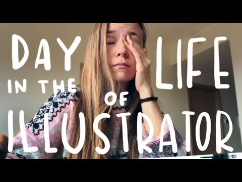 Day in the Life of an Illustrator | plus a guitar song