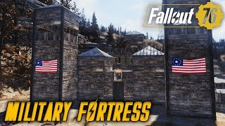 MILITARY FORTRESS! | Fallout 76 Military Camp Build