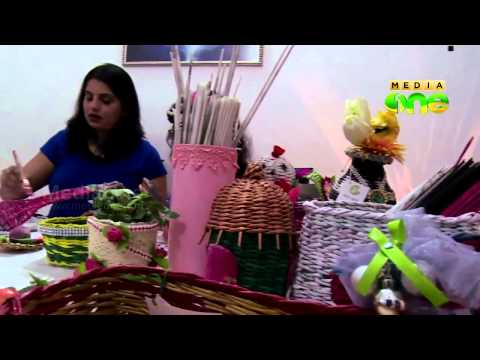 Veshali recycles waste in to Decorative art and craft - Weekend Araibia Epi 117 Part3