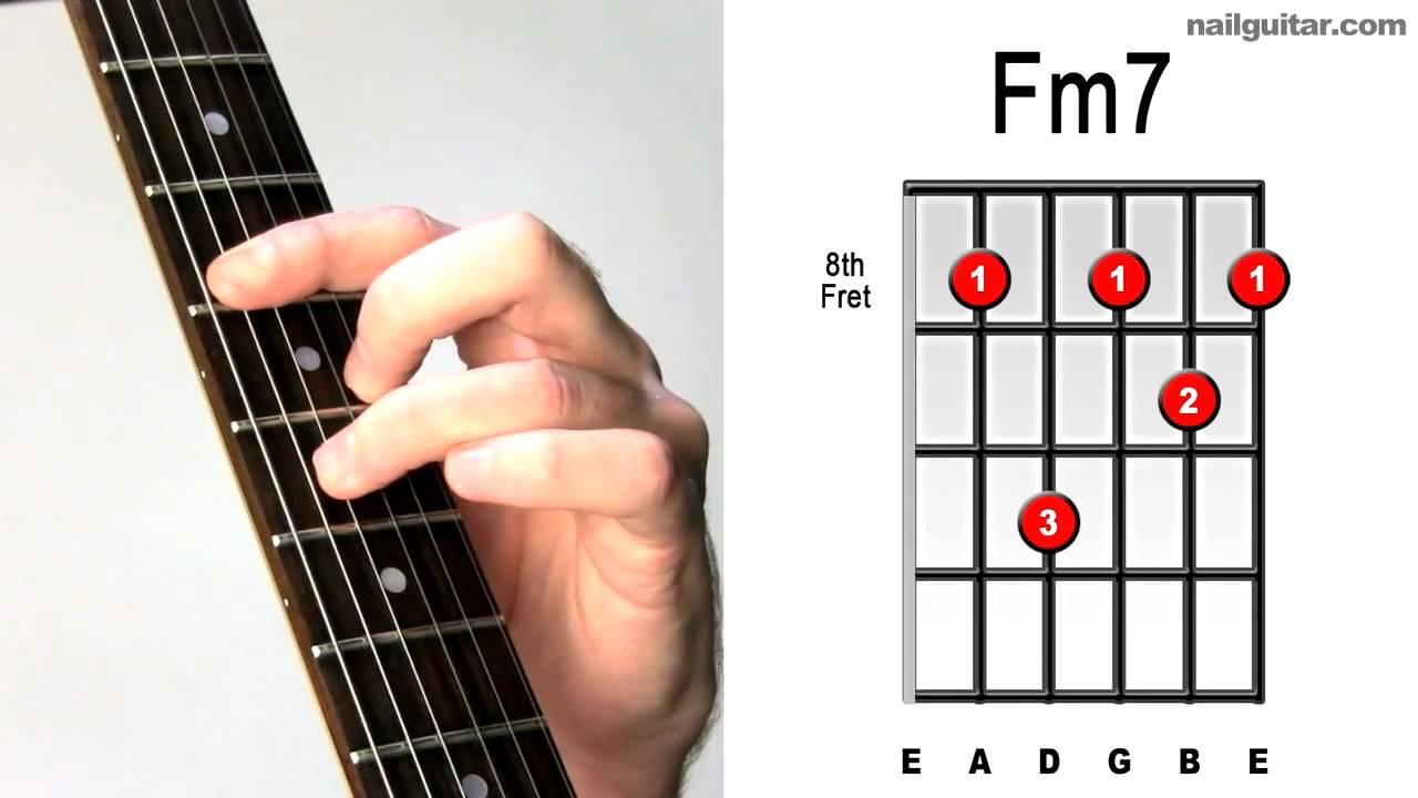 F Minor 7th Fast Easy Guitar Chord Tutorial Learn Bar