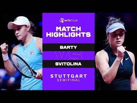 Ash Barty vs. Elina Svitolina   2021 Stuttgart Semifinal   WTA Match Highlights