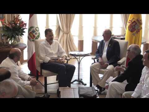 S.M. el Rey recibió al Presidente de Perú, Pedro Pablo Kuczynski