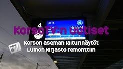KorsoTV:n uutiset - 7: Uudet laiturinäytöt Korson asemalla, Lumon kirjasto remonttiin