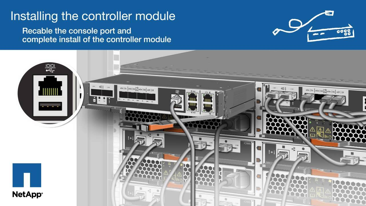 Replacing the controller module in FAS2552 systems - YouTube on