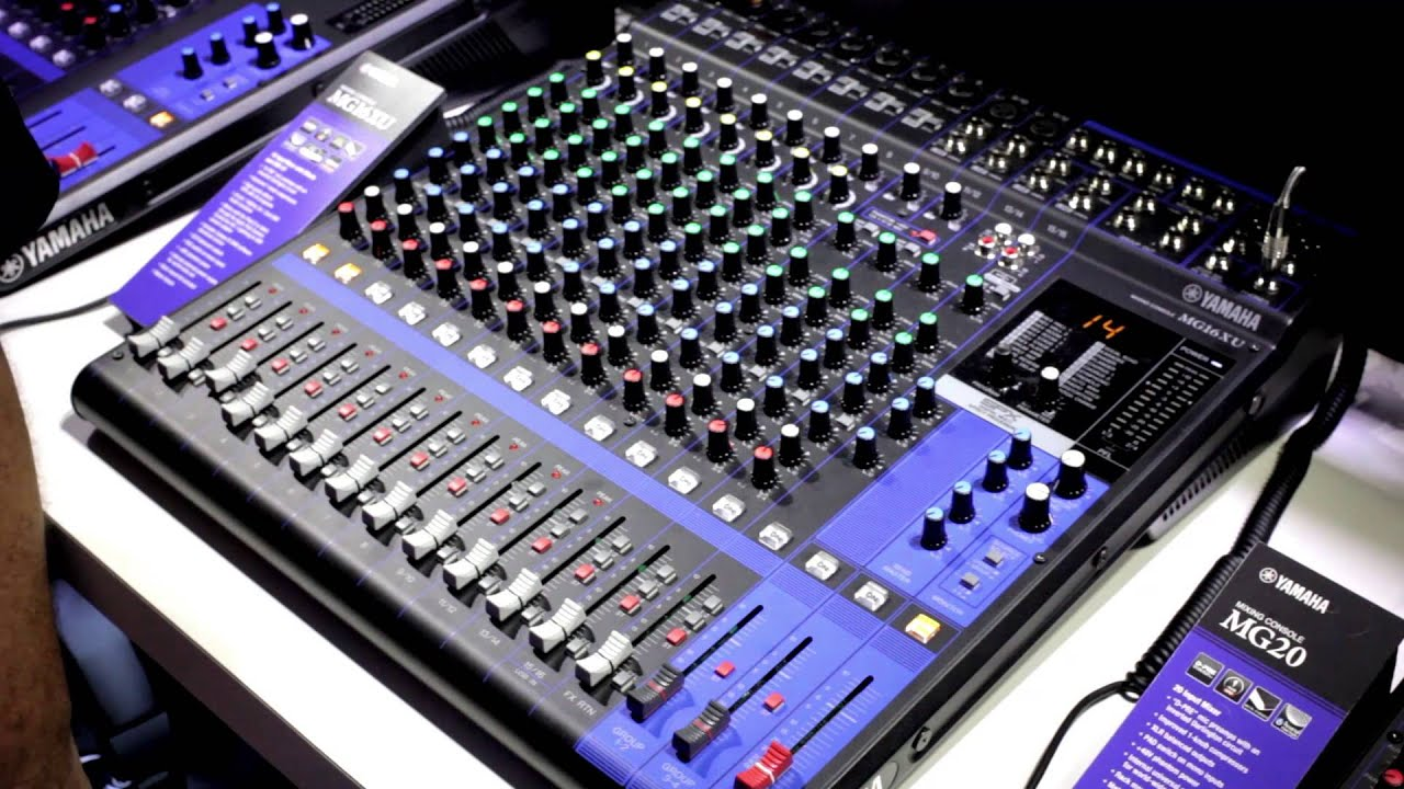 yamaha mg series digital mixers namm 2014 youtube