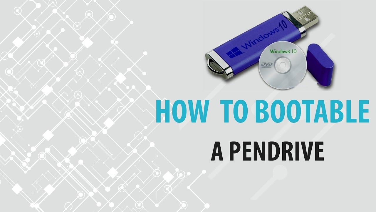 How to Boot Windows 10 via USB Pendrive | TechProbeX