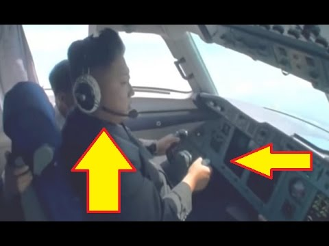 Kim Jong Un Pretending to Fly an Airplane North Korea
