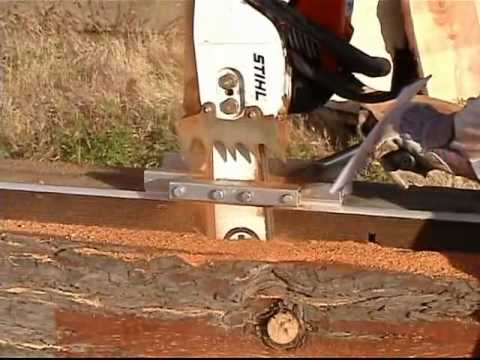 Granberg Edging Logs With The G555b Mini Mill Youtube