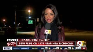 Video Semi flips on I-275 near New Richmond download MP3, 3GP, MP4, WEBM, AVI, FLV Agustus 2018