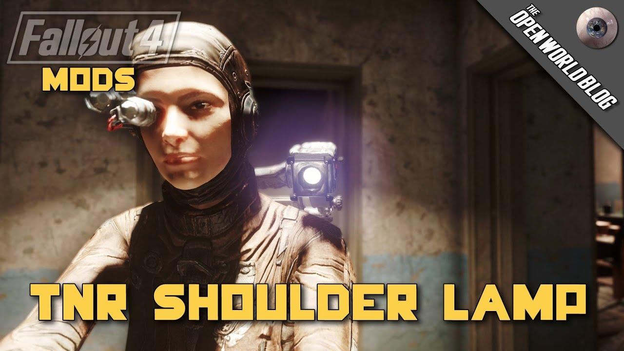 Fallout 4 Mod Showcase: TNR Shoulder Lamp by akkalat85 - YouTube