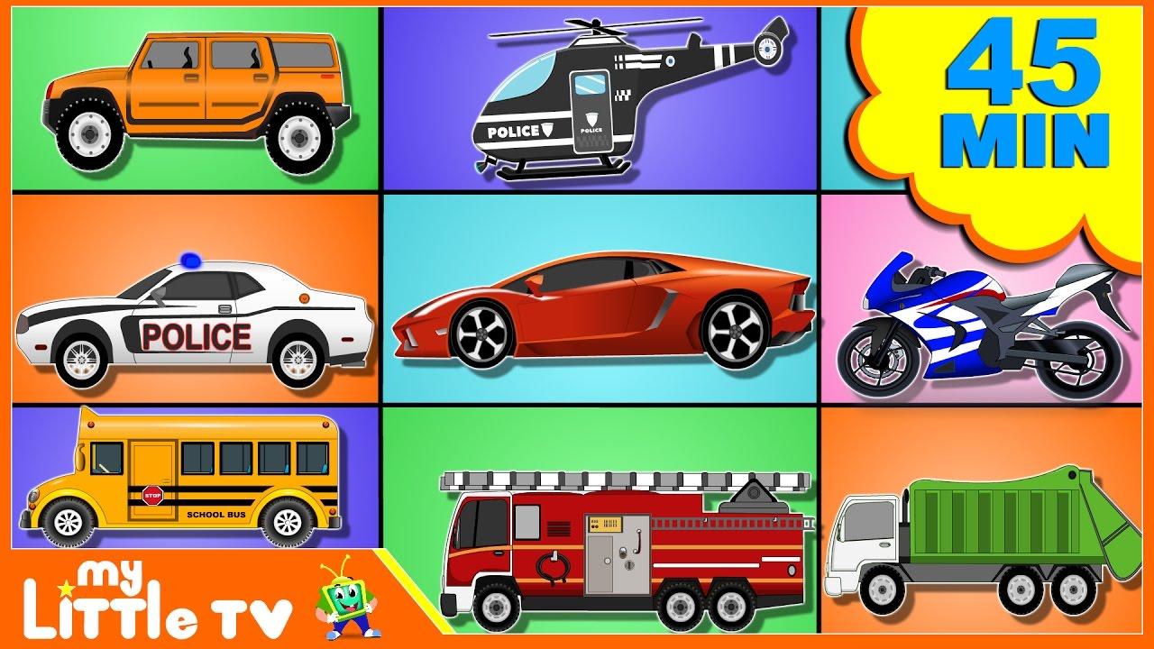 cars for kids bike chase car wash compilation kids videos my little tv