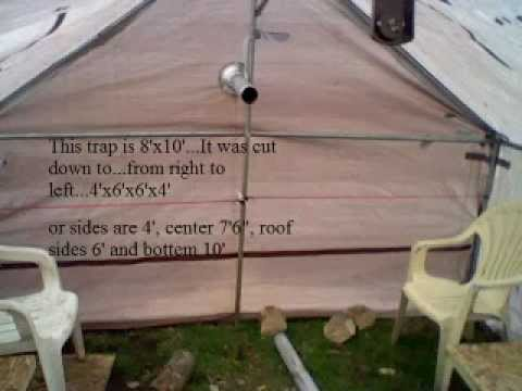 Homemade cabin tarp tent slideshow with caption youtube for Homemade wall tent frame