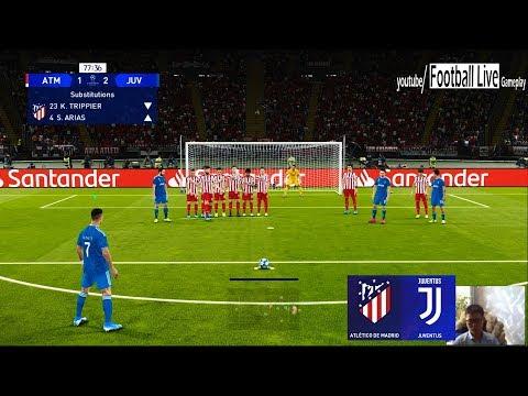 PES 2020 | Atletico Madrid Vs Juventus | UEFA Champions League UCL | C.Ronaldo Free Kick Goal