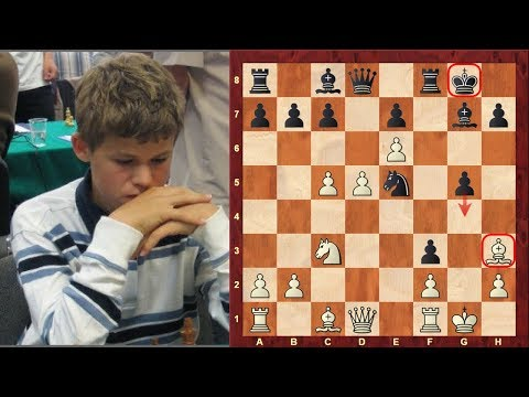 Magnus Carlsen's Amazing Chess Double Bishop Sacrifice Mikhail Tal Like Chess Game At The Age Of 12!
