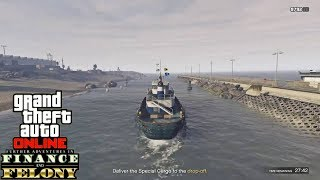 GTA 5 Online CEO Work - Tug Boat Delivery (Finance & Felony DLC)