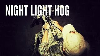 Texas Hog Hunting with Crossbow | Night Light