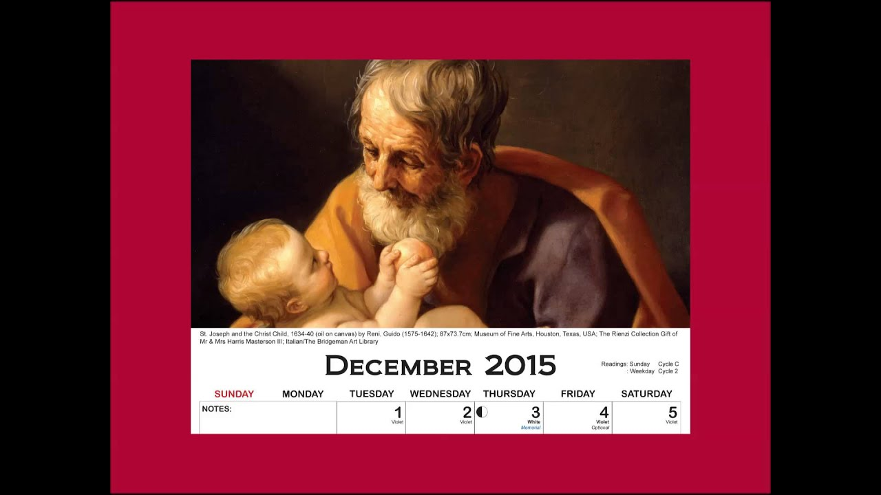 December Calendar Art : Columban calendar art guide december youtube