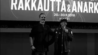 Spike Lee & Jasper Pääkkönen in Hellsinki at Love and Anarchy film festival