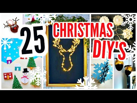 25 DIY Christmas Decorations! Winter Room Decor Projects
