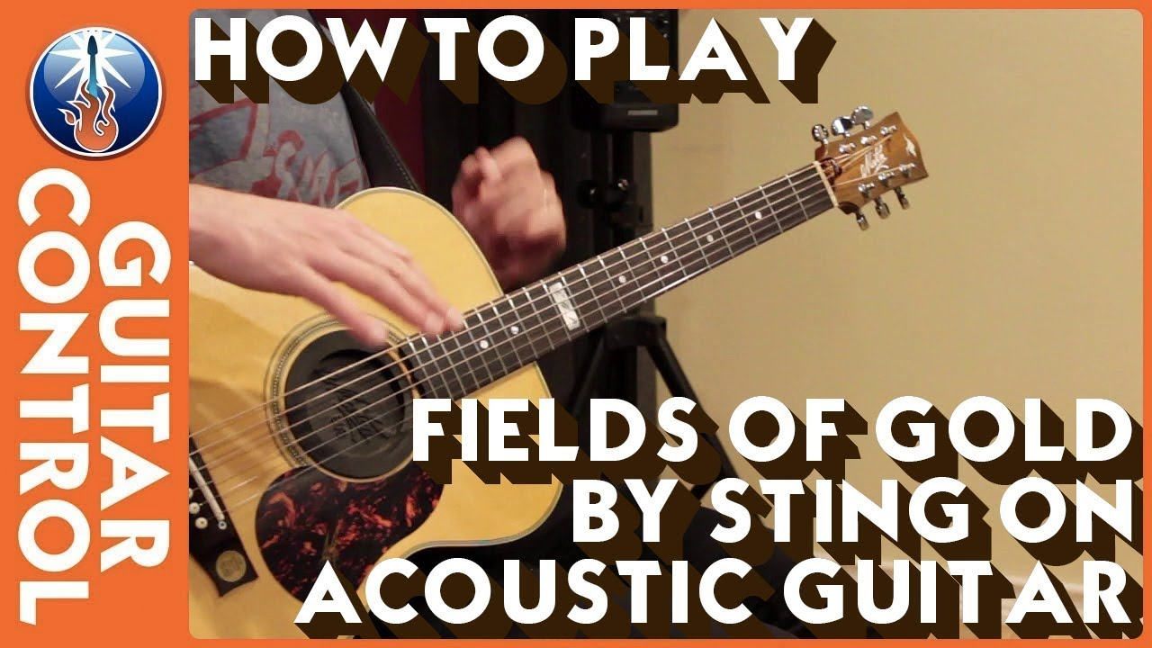 How To Play Fields Of Gold By Sting On Acoustic Guitar Youtube