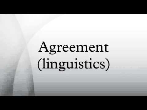 Agreement Linguistics Youtube