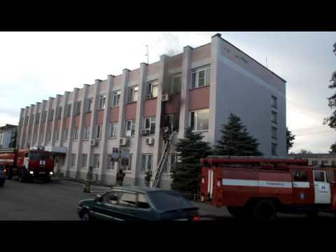 Пожар на почте в Новой Усмани (31.05.2014)