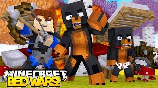 Minecraft BED WARS - DONUTS FIRST EVER BED WARS!! - Donut The Dog Minecraft Roleplay