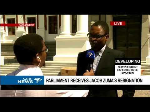 Parliament receives Jacob Zuma