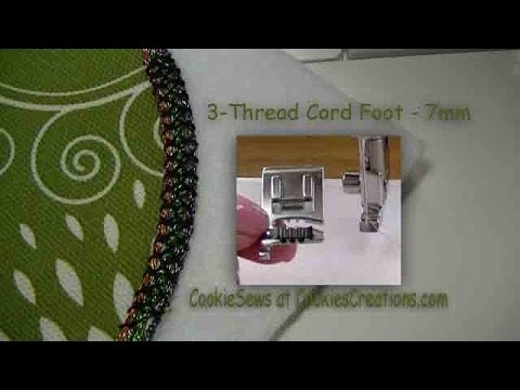 The 3-Thread Cord Foot 7 mm