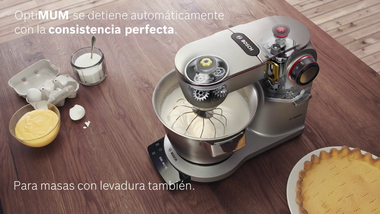 Robot De Cocina Optimum De Bosch Youtube