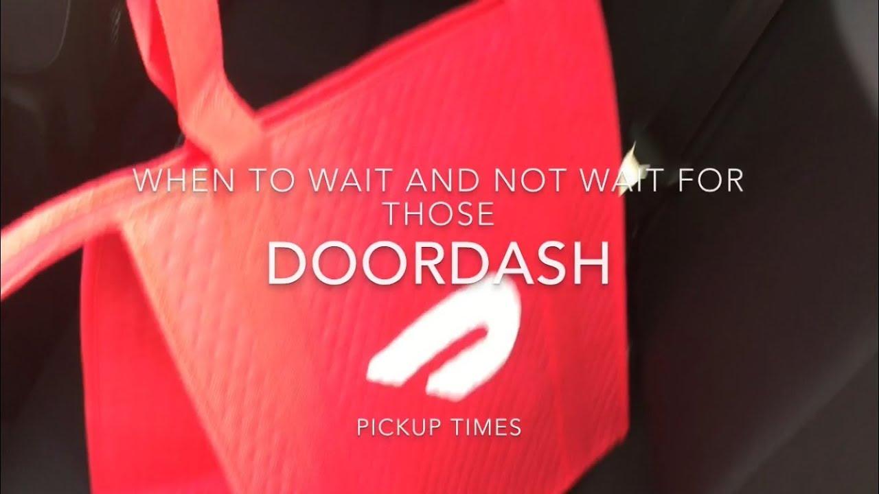 Doordash tips on waiting times