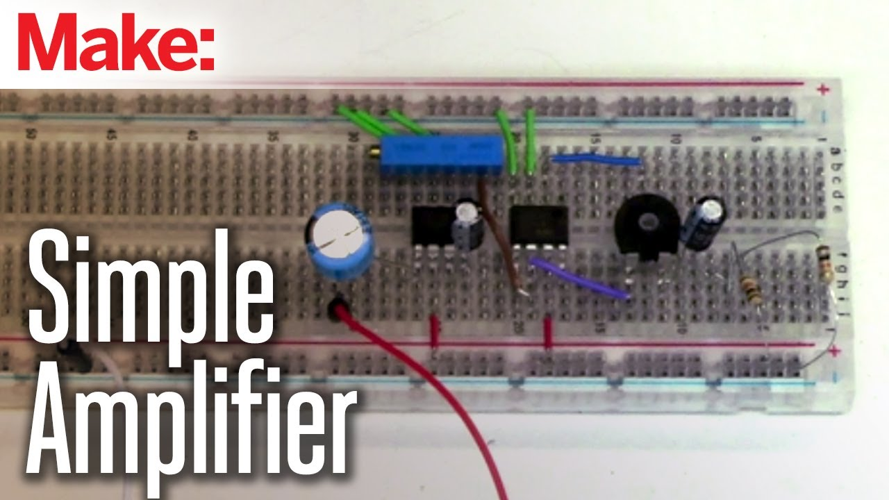Projects With Ryan Slaugh Simple Amplifier Youtube How To Connect The Lm741 Op Amp Chip A Circuit
