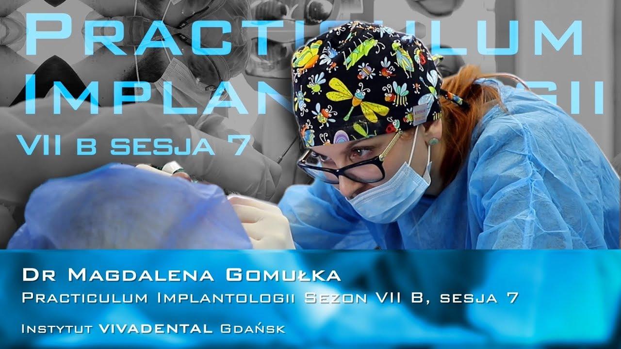 Dr Magdalena Gomułka na Practiculum Implantologii