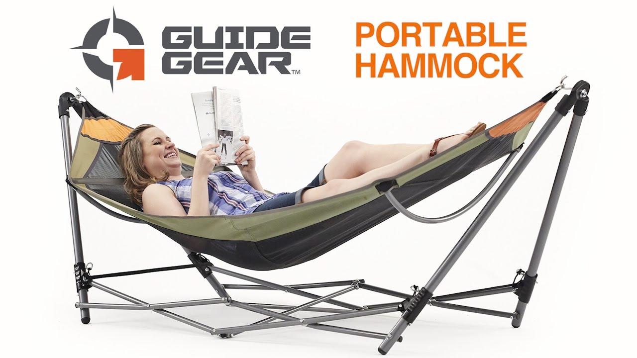 guide gear portable folding hammock guide gear portable folding hammock   youtube  rh   youtube