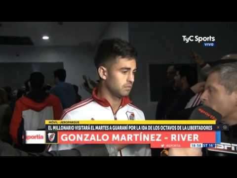 Pity Martínez habló antes de viajar a Asunción