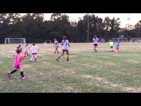 Girls soccer players got tips from the University of Alabama Women