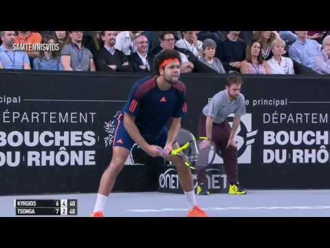 Nick Kyrgios Vs Jo Wilfried Tsonga Open 13 Marseille 2017 SF (Highlights HD)