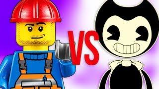 LEGO VS BENDY | СУПЕР РЭП БИТВА | Лего movie ниндзяго ПРОТИВ Бенди И Чернильная Машина chapter 4