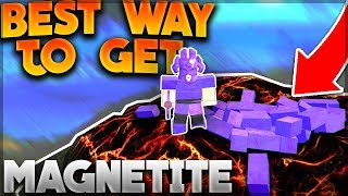 'NEW' BEST AND FASTEST WAY TO GET MAGNETITE IN BOOGA BOOGA [Tutorial] Roblox: Booga Booga