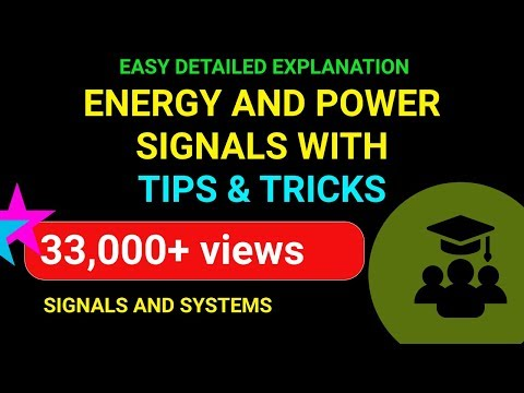 Energy and Power Signals - Part 1 | Easy to Understand with Tips and Tricks | Emmanuel Tutorials