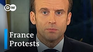 Macron makes concessions to calm 'yellow vest' protesters | DW News