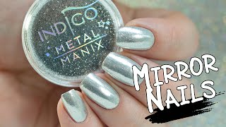 How To Make Mirror Nails   Chrome Effect with Metal Manix