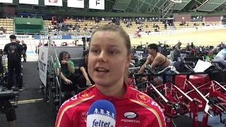 Amalie Dideriksen efter to omnium discipliner ved VM 2019