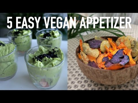 5 QUICK & HEALTHY VEGAN APPETIZERS ♡