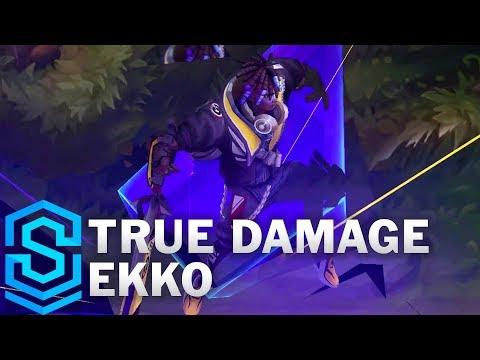 True Damage Ekko Skin Spotlight - Pre-Release - League Of Legends