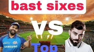 Virat Kohli vs Rohit Sharma best sixes Top sixes Rohit vs Virat six#cricketvideo
